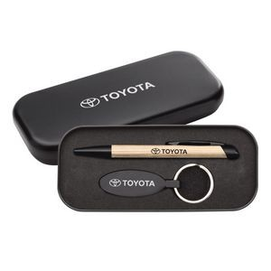 Sienna Pen/Keyring Gift Set - Satin Nickel