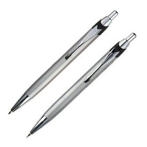 City Ballpoint & Pencil Set - Silver