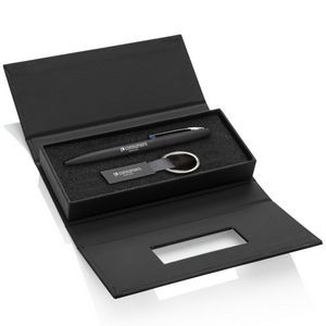 Banos Pen/Keyring Gift Set - Blue