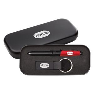 Nano Pen/Stylus/Keyring Gift Set - Red