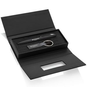 Banos Pen/Keyring Gift Set - Black
