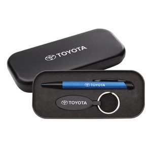 Sienna Pen/Keyring Gift Set - Blue